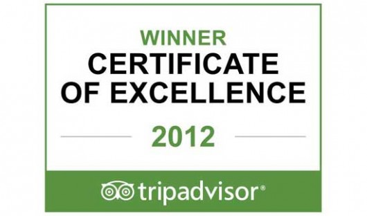 2012 Tripadvisor Certificate of Excellence